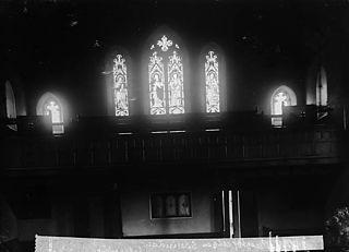 Window in the William Williams memorial chapel, Llanymddyfri