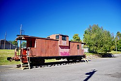 Caboose on display in Wingo