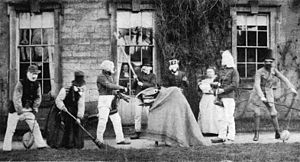 Winster Guisers - The three Winster hobby horses and other performers, c. 1870