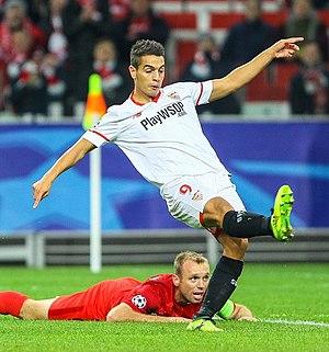 Wissam Ben Yedder - Ben Yedder with Sevilla in 2017