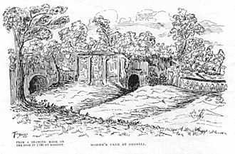 Ordsall, Greater Manchester - Woden's Den in 1780 as sketched by Thomas Barret