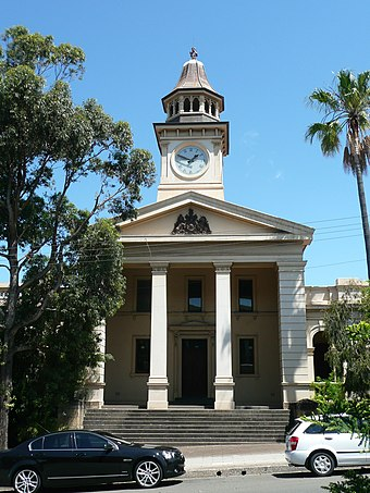 Heritage-listed court house, Market Street WollongongCourtHouse.JPG