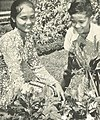 Woman and son looking at flowers, Wanita di Indonesia p42 (Ministry of Information).jpg