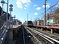 Woodmere LIRR Station; Train Arrives.JPG