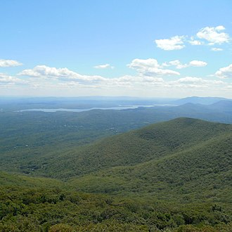 Overlook Mountain - View of Ashokan Reservoir from the Overlook Mountain Fire Tower