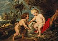 Workshop of Peter Paul Rubens - The Christ Child and the Infant Saint John the Baptist.jpg