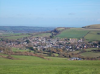 Wroxall, Isle of Wight - View of Wroxall from Stenbury Down