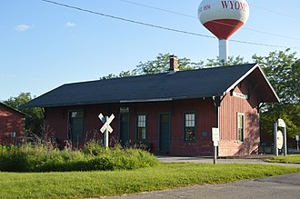 Stark County, Illinois - Image: Wyoming CB&Q depot