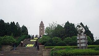 Xibaipo Town in Hebei, China