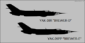Yakovlev Yak-28R and Yak-28PP side-view silhouettes.png