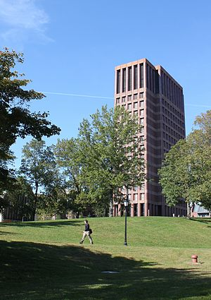 Science Hill (Yale University) - Kline Biology Tower, Yale's tallest building, from Sachem Street