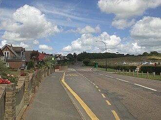 Yaverland - The main road through the newer part of Yaverland.
