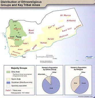 Demographics of Yemen - Image: Yemen ethno 2002