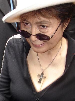 Yoko Ono on the opening day of her art exhibit...