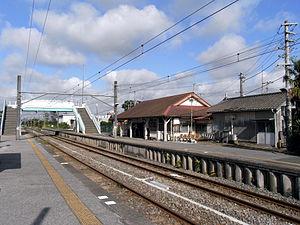 Yokoshiba Station - View of the platforms, September 2008