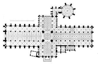 York Minster - The cruciform plan of York Minster by Georg Dehio