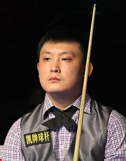 Yu Delu Chinese snooker player