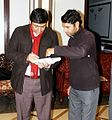 Zal Saadi signing his book..jpg