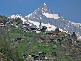 Zeneggen Municipality in Switzerland in Valais
