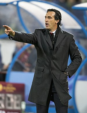Unai Emery - Emery with Sevilla in 2015
