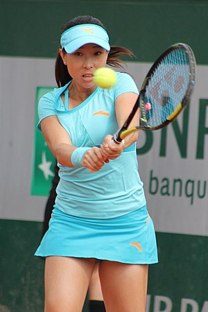 Zheng Jie - Zheng at the 2015 French Open