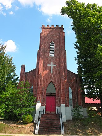 National Register of Historic Places listings in Haywood County, Tennessee - Image: Zion Church 2