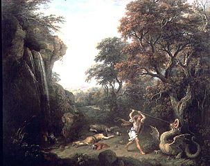 A Landscape with the Story of Cadmus Killing the Dragon