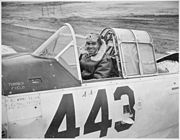 """1st Lt. Lee Rayford...who has returned to the United States from Italy where he served with the 99th Fighter Squadron. - NARA - 535836"