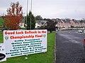 """""""Good Luck Belleek"""" sign - geograph.org.uk - 1542700.jpg"""