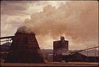 """TEEPEE"" BURNER INCINERATES LUMBER MILL'S WASTE - NARA - 544966.jpg"