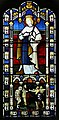 'Church of St Andrew' Greensted, Ongar, Essex England - stained chancel window to Saint Edmund the Martyr.jpg