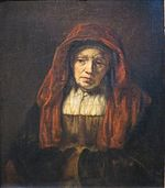 'Portrait of an Old Woman' by Rembrandt, 1654, Pushkin Museum.JPG