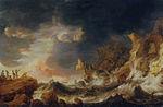 'Shipwreck on a Rocky Coast' by Bonaventura Peeters, Philadelphia Museum of Art.jpg