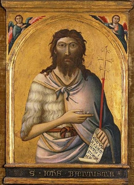 File:'St. John the Baptist', painting by Jacopo del Casentino and assistant, c. 1330, El Paso Museum of Art.jpg