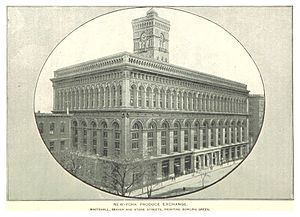 New York Produce Exchange - New York Produce Exchange depicted in 1893