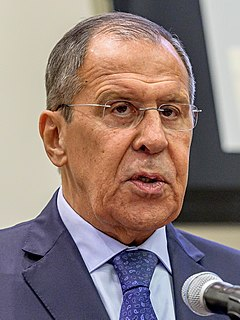 Sergey Lavrov Russian politician and Foreign Minister