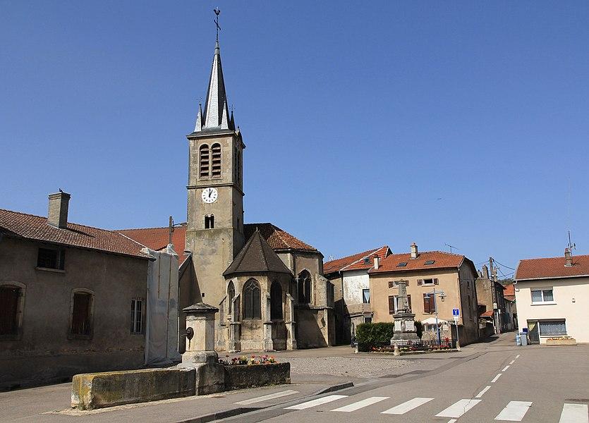 Église Saint-Léger de Custineschapelle, chœur, clocher,  (Inscrit, 1926)