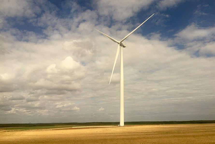 éolienne.depuis le TGV Paris-Lyon.