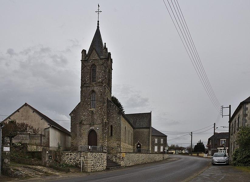 Église Saint-Méen d'Évriguet.