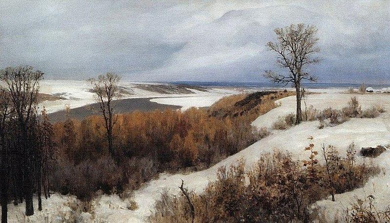 File:В. Д. Поленов. Ранний снег. Бёхово. 1891.jpg