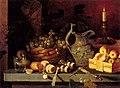 И. Ф. Хруцкий. Натюрморт со свечой. 1830-е.jpg