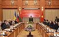 Министр обороны Вьетнама Фунг Куанг Тхань выступает на встрече с делегацией СВС.jpg