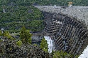 Sayano–Shushenskaya Dam - Sayano–Shushenskaya hydroelectric power station in 2007.