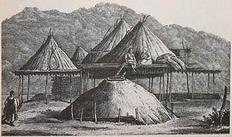 Itelmens - Winter dwelling and summer dwellings