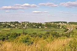 Вигляд на село з півдня