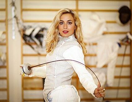 Dlila Hatuel. Foil fencing olympic athlete.