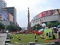 汶川地震后3天的中坝红军纪念碑 - panoramio.jpg