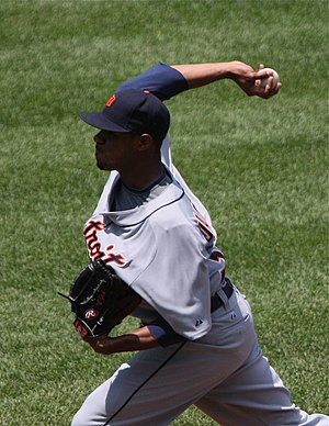 Edwin Jackson - Jackson pitching for the Tigers in 2009