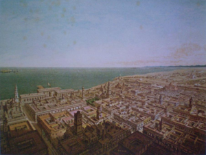 Convention of London (1861) - Contemporary view of Veracruz, the meeting point of the Allied forces