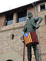 037 El Timbaler del Bruc, amb la capella de Sant Andreu al fons (Santpedor).JPG